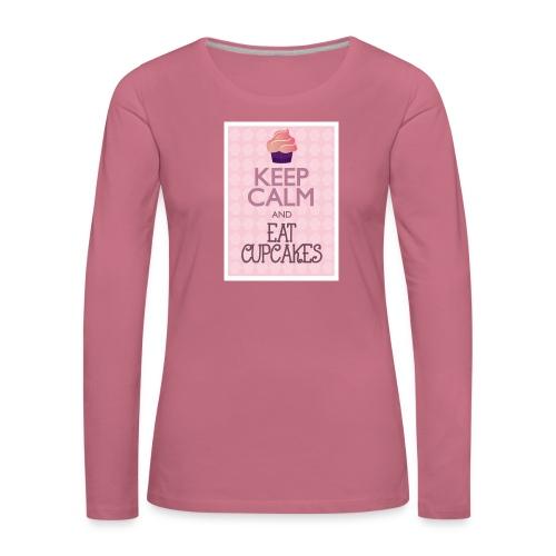 cupcake - Maglietta Premium a manica lunga da donna