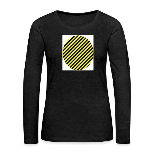 varninggulsvart - Långärmad premium-T-shirt dam