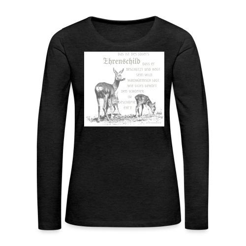 EHRENSCHILDSAFE1Sh - Frauen Premium Langarmshirt
