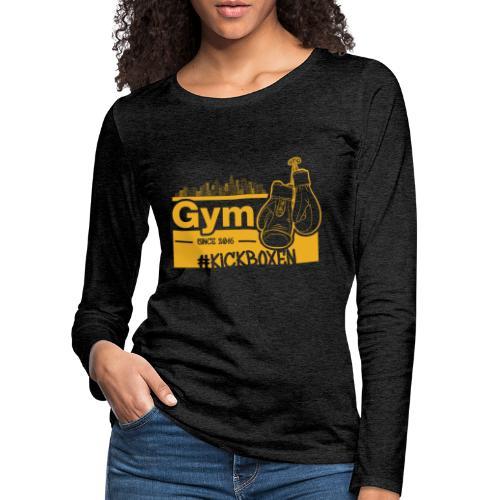 Gym Druckfarbe Orange - Frauen Premium Langarmshirt