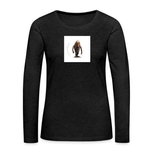 button hempel weiss - Frauen Premium Langarmshirt