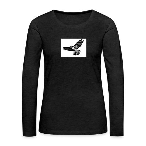 Haukka - Naisten premium pitkähihainen t-paita