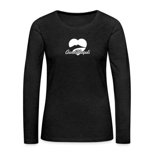 CuordiNapoli - Maglietta Premium a manica lunga da donna