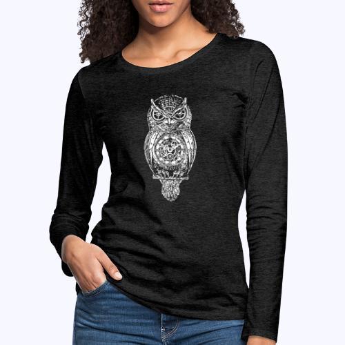 Eule - Frauen Premium Langarmshirt