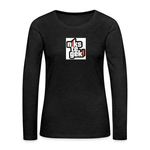 nikstegek shirt - Vrouwen Premium shirt met lange mouwen