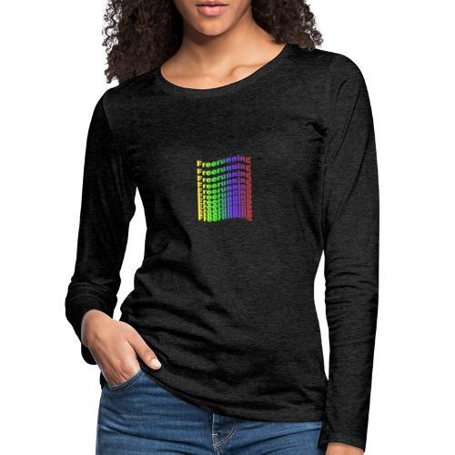 Freerunning Rainbow - Dame premium T-shirt med lange ærmer