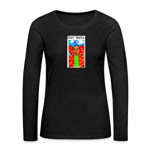 Det' Beks. - Dame premium T-shirt med lange ærmer