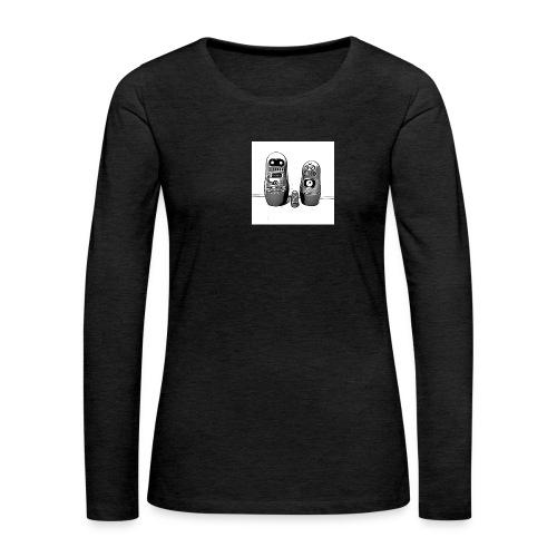0342 Shirt ROBOT Bot IIII - Frauen Premium Langarmshirt