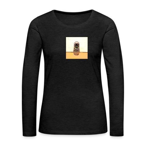 Lustiges Scifi Robot T-Shirt retro Geschenkidee - Frauen Premium Langarmshirt