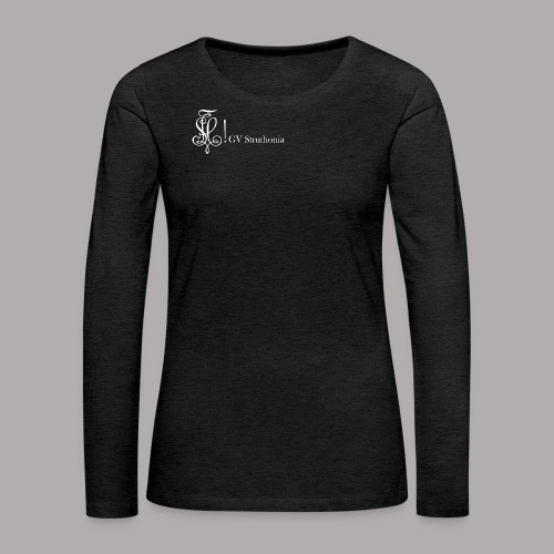 Zirkel mit Name, weiss (vorne) - Frauen Premium Langarmshirt
