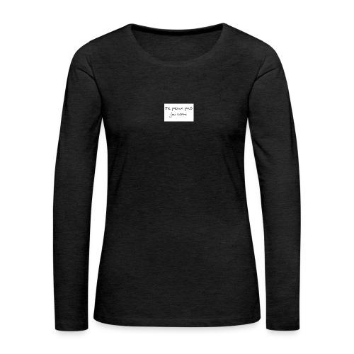 jaivomi - T-shirt manches longues Premium Femme