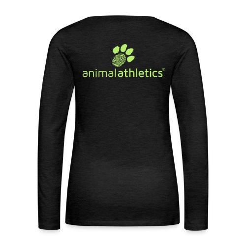 Animal Athletics Paw - Frauen Premium Langarmshirt