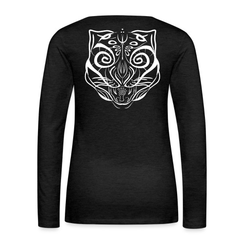 The Parvati Cat by Stringhedelic - White - Women's Premium Longsleeve Shirt