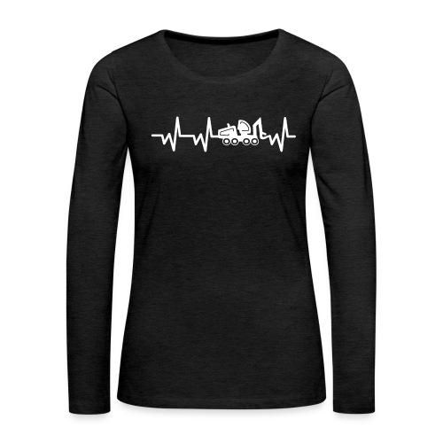 Forst | Herzschlag weiß - Frauen Premium Langarmshirt