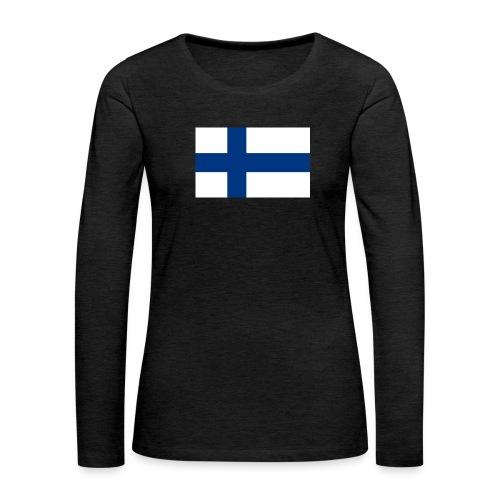 800pxflag of finlandsvg - Naisten premium pitkähihainen t-paita