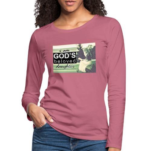 946CAFFE 8624 4E8E 9BB9 ECD561D0D283 - Dame premium T-shirt med lange ærmer