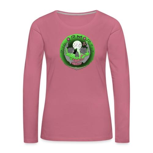 Rigormortiz Metallic Green Design - Women's Premium Longsleeve Shirt