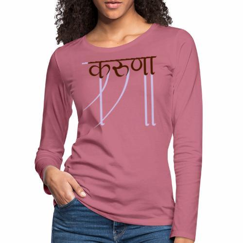 mitgefühl - Frauen Premium Langarmshirt
