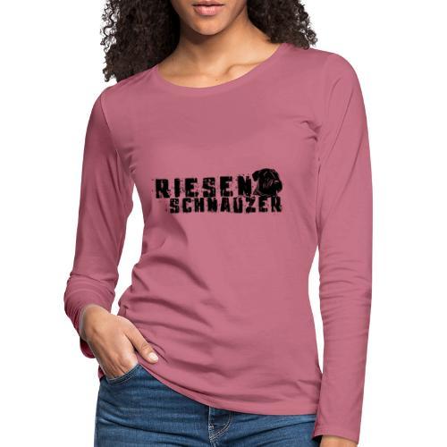 Riesenschnauzer/ Schnauzer Hunde Design Geschenk - Frauen Premium Langarmshirt