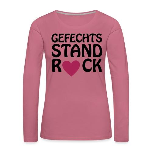 Gefechtsstand Rück Herz - Frauen Premium Langarmshirt