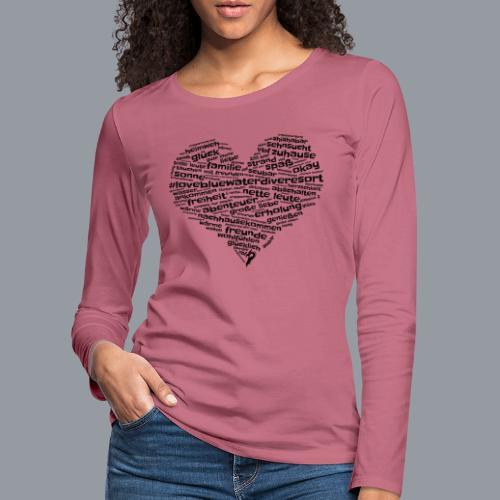 #lovebluewaterdiveresort - Frauen Premium Langarmshirt