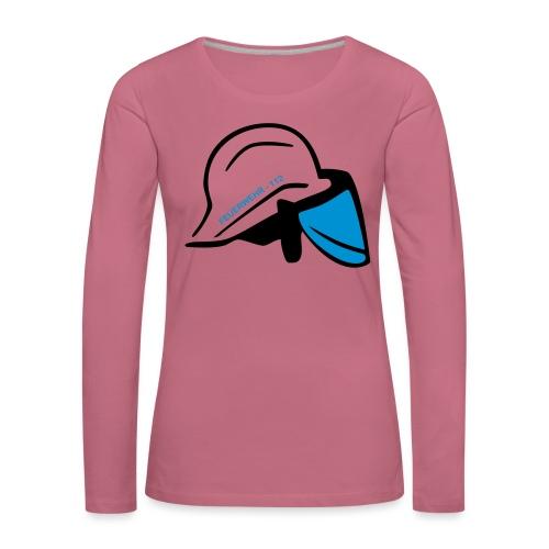 Feuerwehr Helm - Frauen Premium Langarmshirt