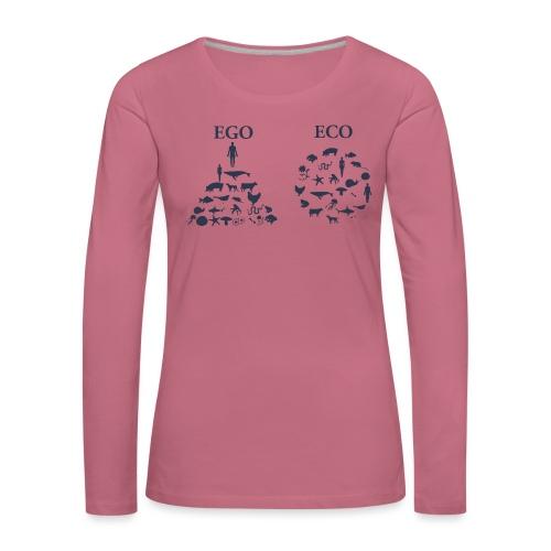 Ego VS Eco - Maglietta Premium a manica lunga da donna