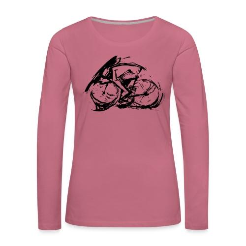 futuristischer radfahrer - Frauen Premium Langarmshirt