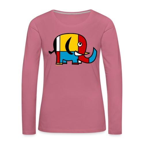 Mondrian Elephant - Women's Premium Longsleeve Shirt