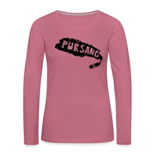 PUR SANG (Black) - Vrouwen Premium shirt met lange mouwen