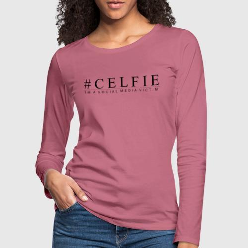 CELFIE - Dame premium T-shirt med lange ærmer