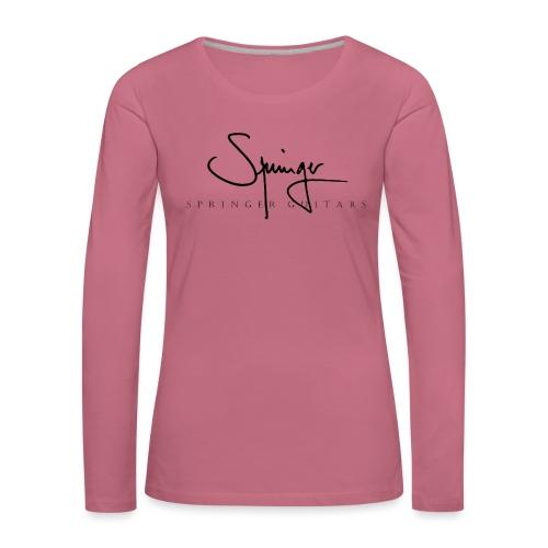 Logo Springer Guitars - T-shirt manches longues Premium Femme