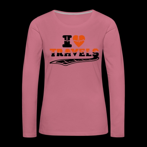 i love travels surprises 2 col - Women's Premium Longsleeve Shirt