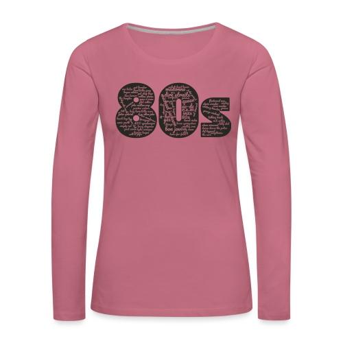 Cloud words 80s black - Women's Premium Longsleeve Shirt