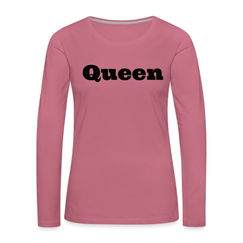 Snapback queen grijs/zwart - Vrouwen Premium shirt met lange mouwen