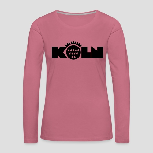 Köln Wappen modern - Frauen Premium Langarmshirt