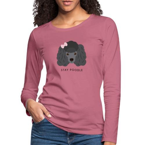 Poodle Black - Maglietta Premium a manica lunga da donna
