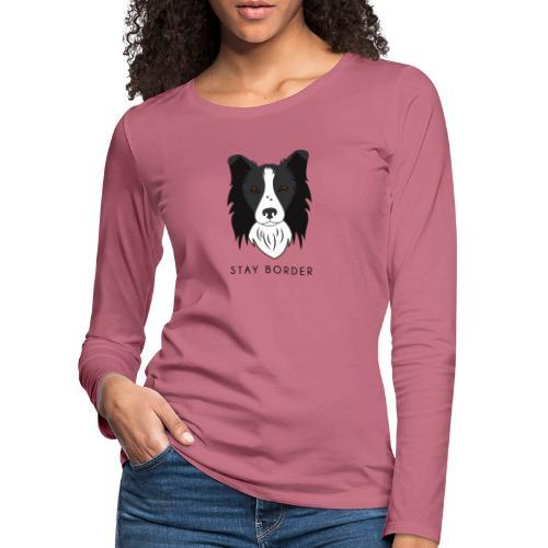 Border Collie - Dark - Maglietta Premium a manica lunga da donna