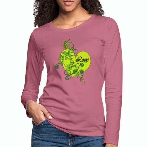 Green Love - Frauen Premium Langarmshirt