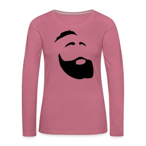 Il Barba, the Beard black - Maglietta Premium a manica lunga da donna