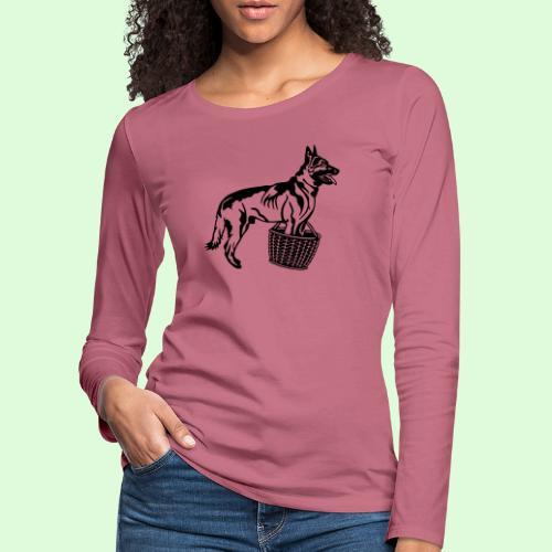 Berger Belge Malinois, la garde d'objet - T-shirt manches longues Premium Femme
