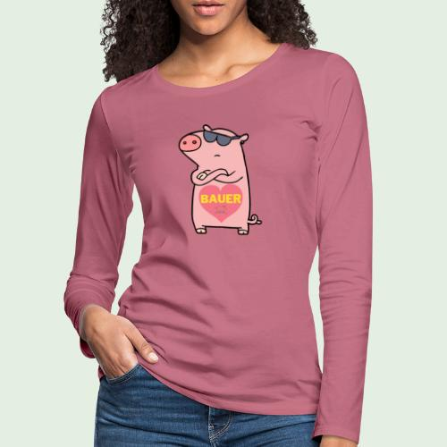 Ich liebe Bauer - Frauen Premium Langarmshirt