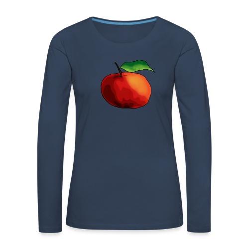 mela-png - Maglietta Premium a manica lunga da donna