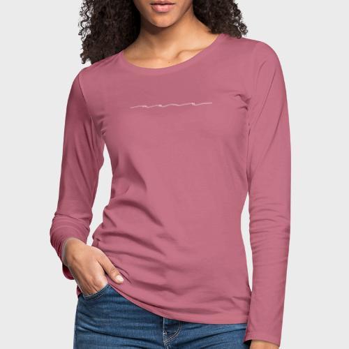 Mama white – Mama Kollektion - Frauen Premium Langarmshirt