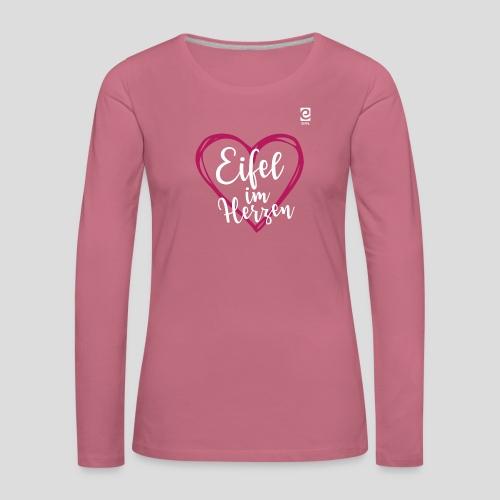 Eifel im Herzen - weiß - Frauen Premium Langarmshirt