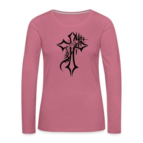 cross - Premium langermet T-skjorte for kvinner