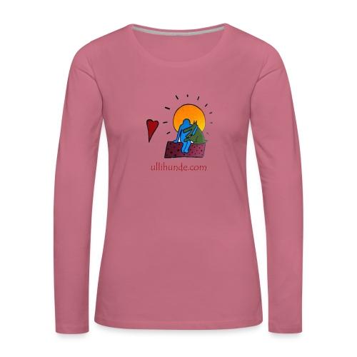 Ullihunde - Logo RETRO - Frauen Premium Langarmshirt