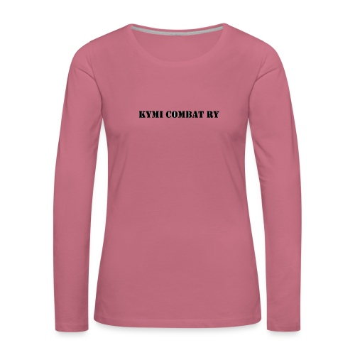 kc musta teksti transparent png - Naisten premium pitkähihainen t-paita