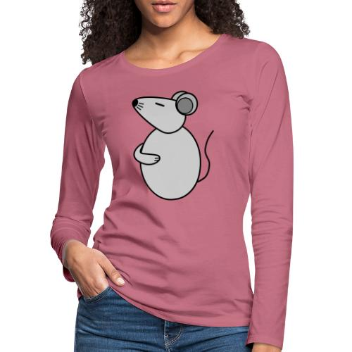 Rat - just Cool - c - Frauen Premium Langarmshirt