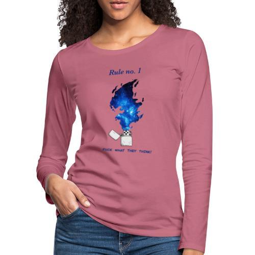 Rule no. 1 - Dame premium T-shirt med lange ærmer
